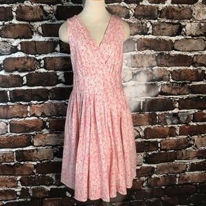 Aryeh Summer Dress Sleeveless Floral Pink Large
